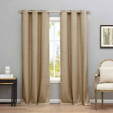 White 76x84 Blackout365 Quincy Faux Silk Blackout Room Darkening Curtain Set of 2 Panels