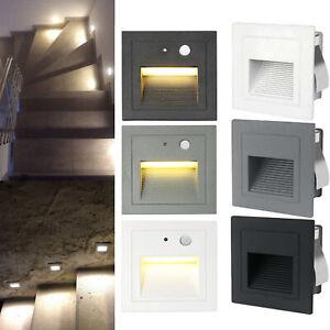 LED Treppenbeleuchtung Bewegungsmelder Treppenlicht Stufen-Leuchte Wandlampe