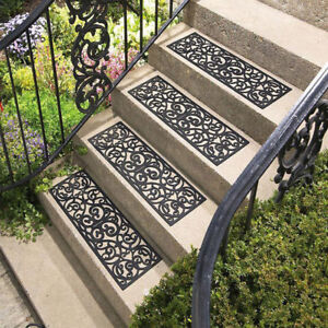 Image Is Loading Outdoor Stair Treads 4Pcs Yard Flooring Tiles Non
