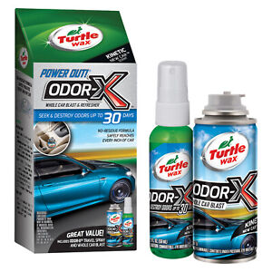 Turtle-Wax-Odor-X-Whole-Car-Blast-Kit-with-Car-Bomb-and-Air-Freshener-New-Car