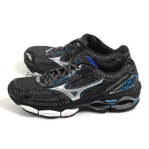 Mizuno Wave Creation 19 Black Silver Blue Expert Running Shoes 2018 ... f82d05c9f42