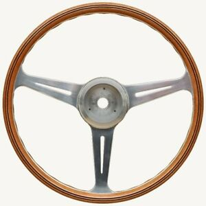 VDM-Spyder-Steering-Wheel-Walnut-Rim-Polished-Spokes-for-Porsche-356-PreA-amp-356A