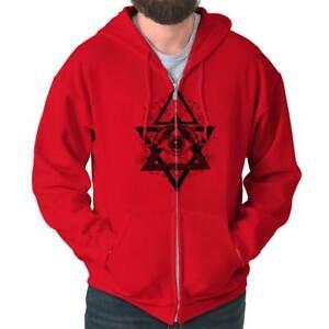 Spiritual-Wheel-Geometric-Graphic-Symbolic-Zipper-Sweat-Shirt-Zip-Sweatshirt