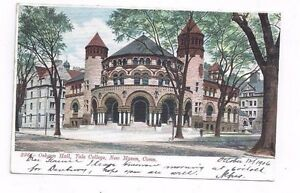 CT-New-Haven-Connecticut-antique-1906-udb-post-card-Osborn-Hall-Yale-College