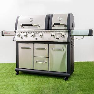 gasgrill 6011 grillstation 2 kammern 6 brenner heck und seitenbrenner hori bbq ebay. Black Bedroom Furniture Sets. Home Design Ideas