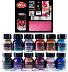 Viva-Decor-Precious-Metal-Color-Effect-Glass-Plastic-Paint-25ml-PICK-YOUR-COLOR