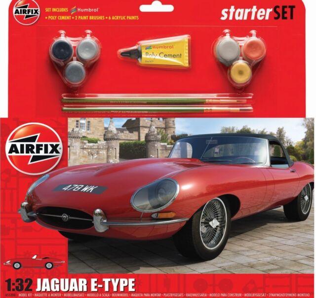 Airfix A55200 Jaguar E Type 1 32 Scale Classic Car Category 2 Gift