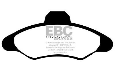 180MM DRUMS EBC ULTIMAX FRONT PADS DP837 FOR FORD ESCORT MK6 1.6 95-98