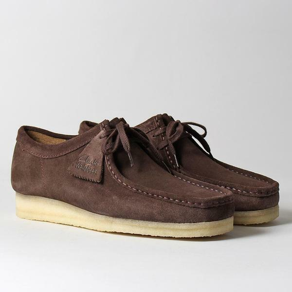 Clarks Originals Da Uomo ** WALLABEES Marrone Scuro /US in Pelle Scamosciata ** /US Scuro 7.5 G 283015