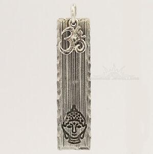 Solid Sterling Buddha Pendant India Buddha Charm Sterling Silver Buddha Charm for Charm Bracelets Vintage Charm