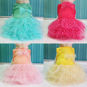 Pet-Dog-Bow-Dress-Lace-Princess-Skirt-Puppy-Cat-Party-Tutu-Dress-Summer-Clothes