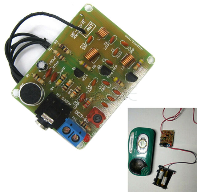 DC1.5V-9V FM Wireless Microphone Audio Transmitter Module MP3 Repeater 88-108MHZ