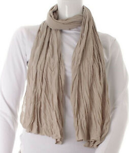 Foulards-Jersey-Unis-Mixte-Taupe-Clair-60-cm-x-180-cm-Jersey-100-Viscose