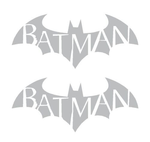 2 Batman Symbol Arkham City Asylum Gotham Vinyl Decals Car Laptop Stickers