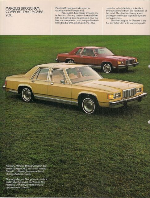 1991 Mercury Grand Marquis Sedan /& Wagon Dealer Sales Brochure Mint!