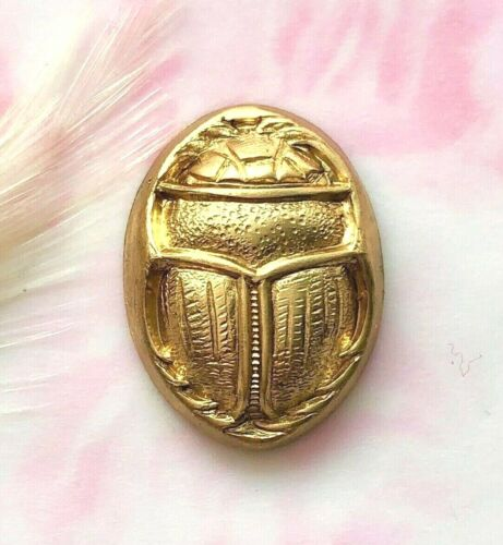 CA-3022 BRASS Beetle Shell Stamping Egyptian Scarab Jewelry Finding