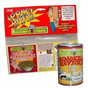 FUNNY COMIC LOONEY SOUP LABELS(2 SETS OF 8PK) Gag prank