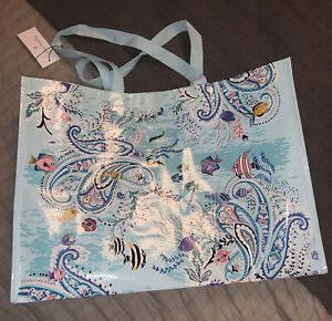 Vera Bradley NWT Market Tote Bag  in PAISLEY WAVE Shopping/Gift Bags