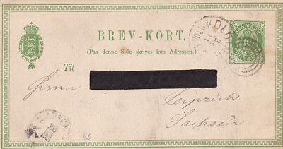 Aggressiv Gs_156 Postkarte P5 Aus Kolding => Leipzig - Kombistempel Nr./ Lapidar VerrüCkter Preis
