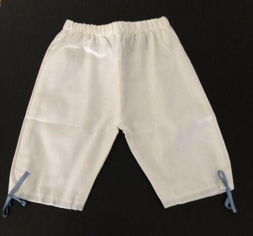 Coccoli Girls White Linen Long Pants 12m 24m 30m 36m 4t 6T