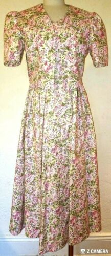 Laura Ashley Vintage Floral Dress Set Size 12