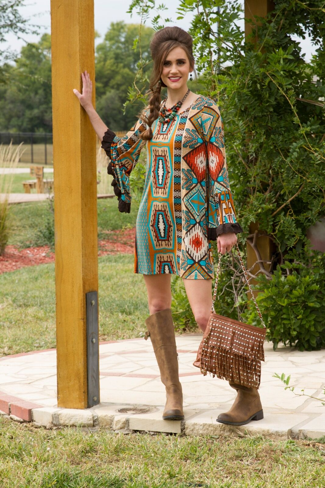 By Together   Printed Tunic Dress