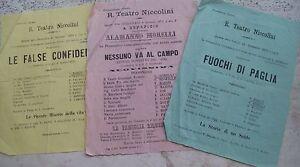 1871 LOT FLYERS TEATRO NICCOLINI DI FLORENCE. ALAMANNO MORELLI DE BRESCIA 41Lg9S6d-09154541-676799078