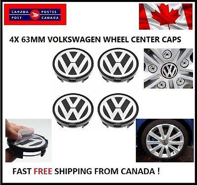 4X VW VOLKSWAGEN CENTER WHEEL CAPS 63MM 64MM PASSAT EuroVan TDI 4 Motion 1.8T