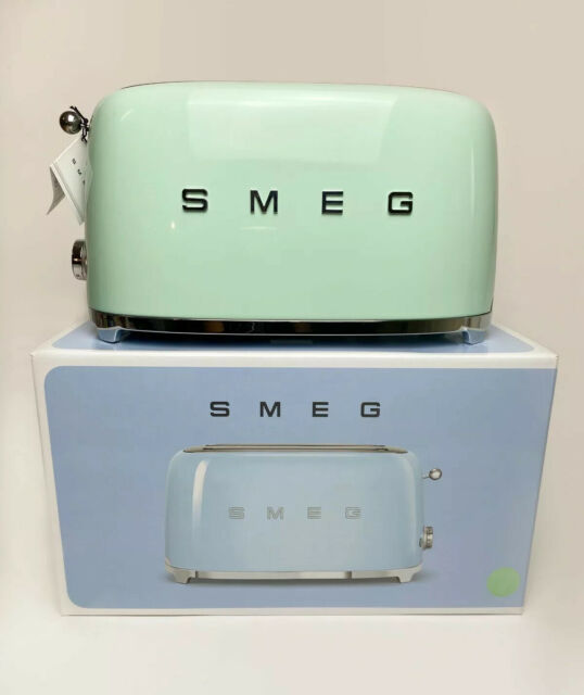 New Smeg 50s Aesthetic Retro Style Pastel Green 4 Slice Toaster For Sale Online
