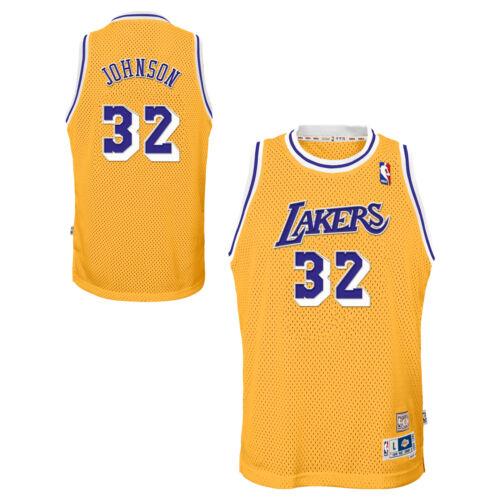 NBA Los Angeles Lakers Magic Johnson Hardwood Classics Heim Swingman Trikot Top