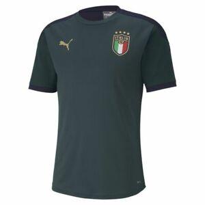 Puma-Fussball-FIGC-Italia-Trainingstrikot-Fussballtrikot-Kinder-dunkelgruen