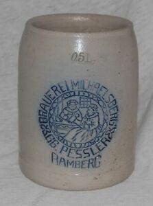 alter Bierkrug, Brauerei Michaelsberg, Pessler, Bamberg, Beer Mug, Humpen