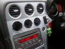 3x Anelli Alluminio Strumenti Calibri Anelli Cromati Per Alfa Romeo 159