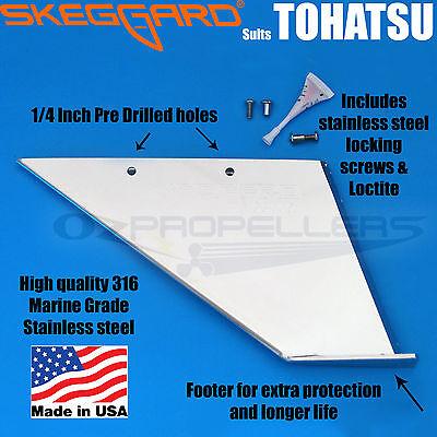 TOHATSU SKEG PROTECTOR Skeggard TOHATSU OUTBOARD SKEG GUARD Quality USA Made*