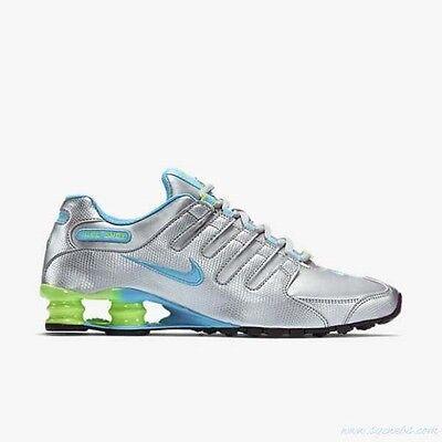 Nike Shox NZ EU Womens Size Running Shoes Metallic Silver Blue Lime 488312  022