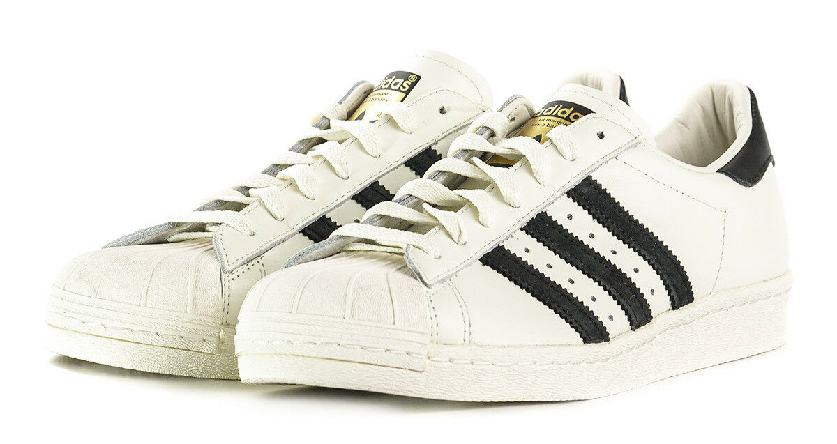 Adidas Originals Superstar 80s DLX Trainers Men's Leather Shoes - Vintage White