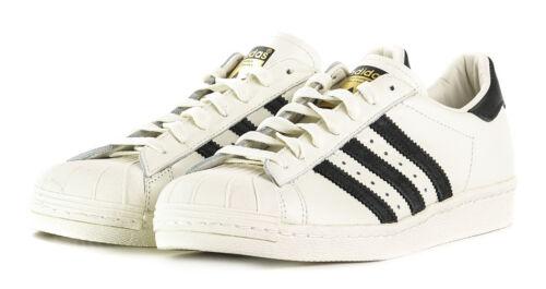 new style 6243b 242e1 De Cuero Hombre Zapatos Dlx Años Superstar 80 Adidas Originals Zapatillas  xPz668Y