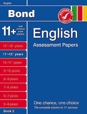 Bond Assessment Papers: More Fifth Papers in English 11+ 12+ Years, Lindsay, Sar