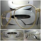 Men or Women VINTAGE RETRO Style Clear Lens EYE GLASSES Matte Gold Fashion Frame