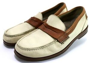 f6b8d2c6332 Details about Sperry Top-Sider  110 Men s Boat Shoes Sz 11.5 Leather Brown  Beige Penny Loafers