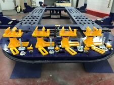 Universal Heavy Duty Auto Body Frame Machine Tie Down Anchoring Clamps Set Of 4