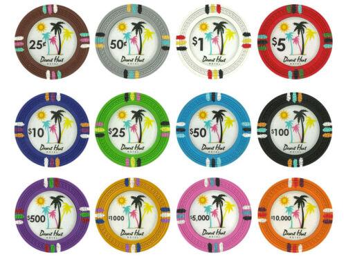 NEW 300 PC Desert Heat Clay 13.5 Gram Poker Chips Bulk Lot Pick Your Chips