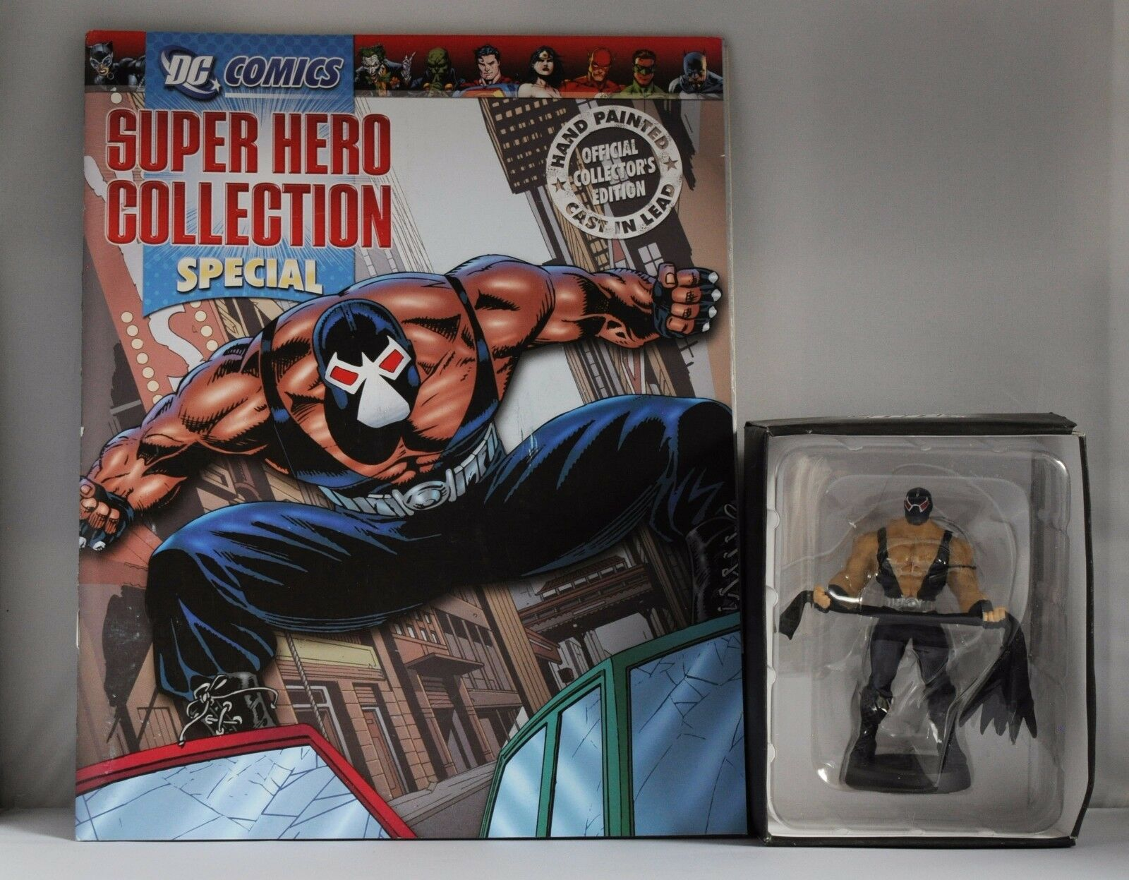 EAGLEMOSS DC CLASSIC FIGURINE COLLECTION SPECIAL EDITION BANE WITH BATMAN'S CAPE