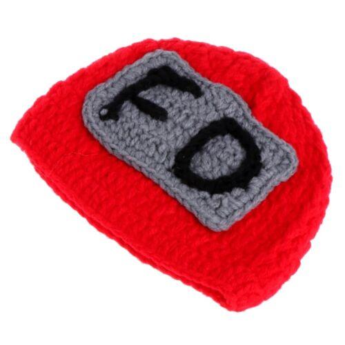 Newborn Baby Crochet Knit Hat Firemen Photo Girls Boys Prop Photography Outfits