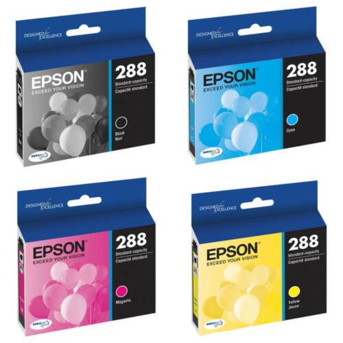 Epson Genuine 4-PACK 288 Black /& Color Ink EXPRESSION XP-430