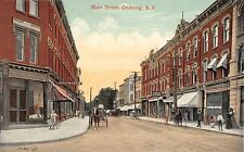 c.1910 Stores Main St. Ossining NY post card Westchester County