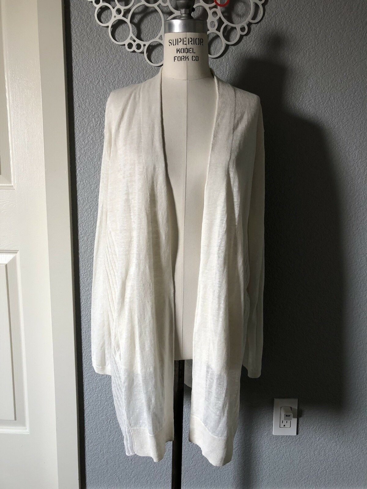 Acne Studios Paulin Linen Open Front Cardigan Size S Small New