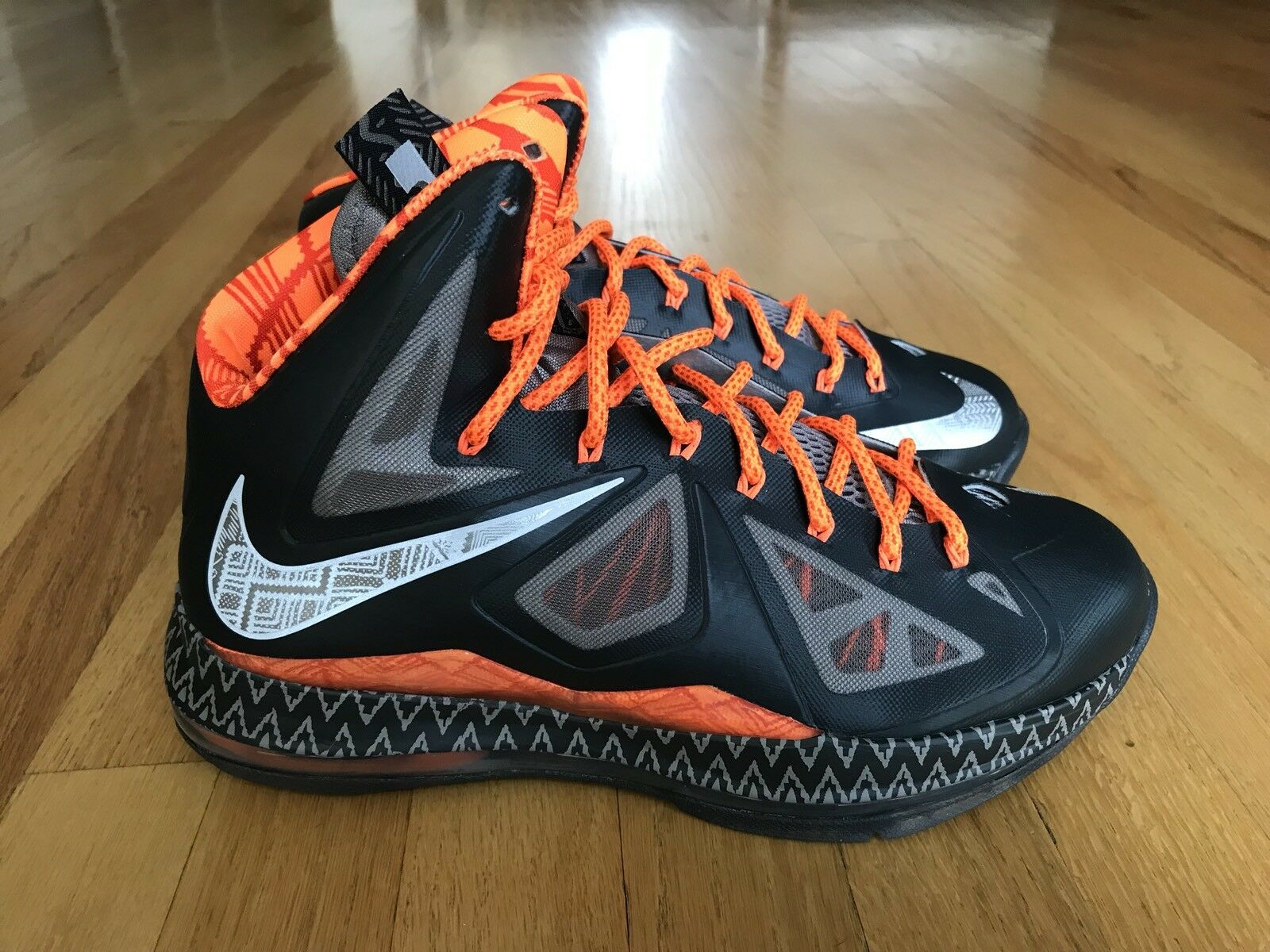 NIKE LEBRON X - BHM BLACK HISTORY MONTH ANTHRACITE SIZE MEN'S 8.5 [583109-001]