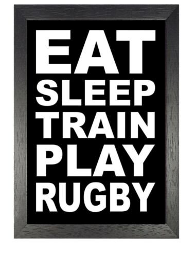 Rugby Quote 2 England Team Sport Poster Motivation Hard Work Train Picture Photo