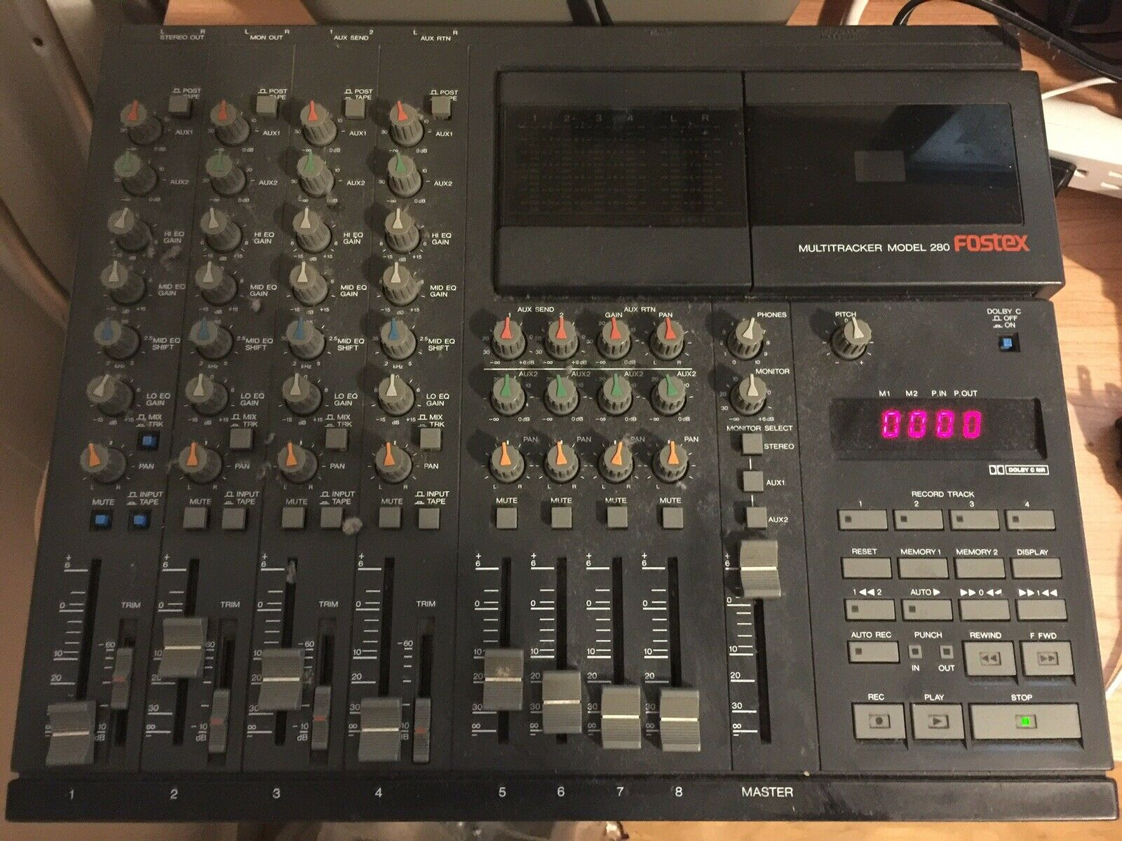 Fostex 280 4 Track Cassette Recorder AS IS FOR PARTS